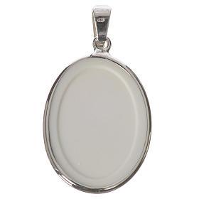 Oval medal in silver, 27mm John Paul II s2