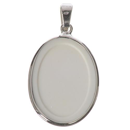 Oval medal in silver, 27mm John Paul II 2