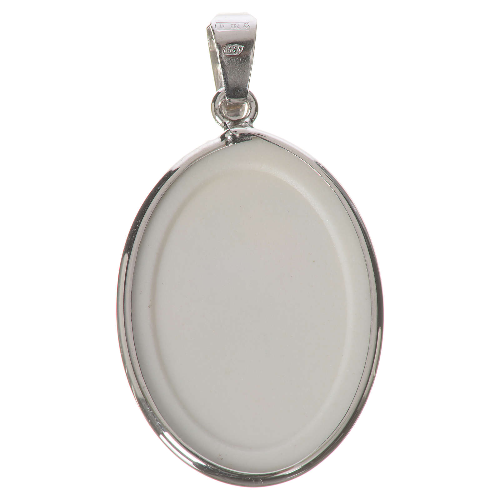 Médaille ovale argent 27mm Marie qui défait les noeuds 4