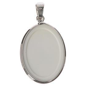 Médaille ovale argent 27mm Marie qui défait les noeuds s2