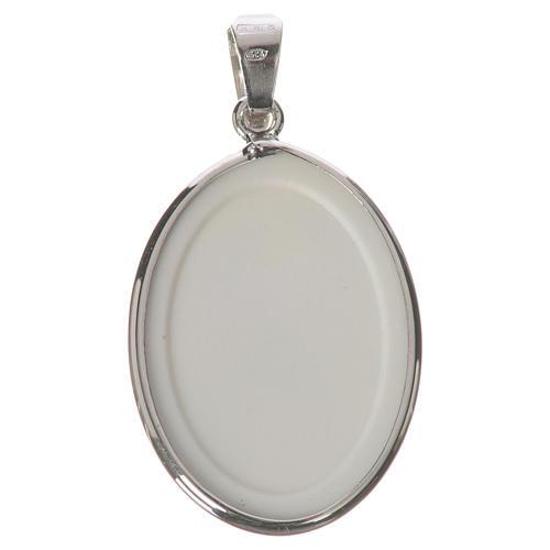 Médaille ovale argent 27mm Marie qui défait les noeuds 2