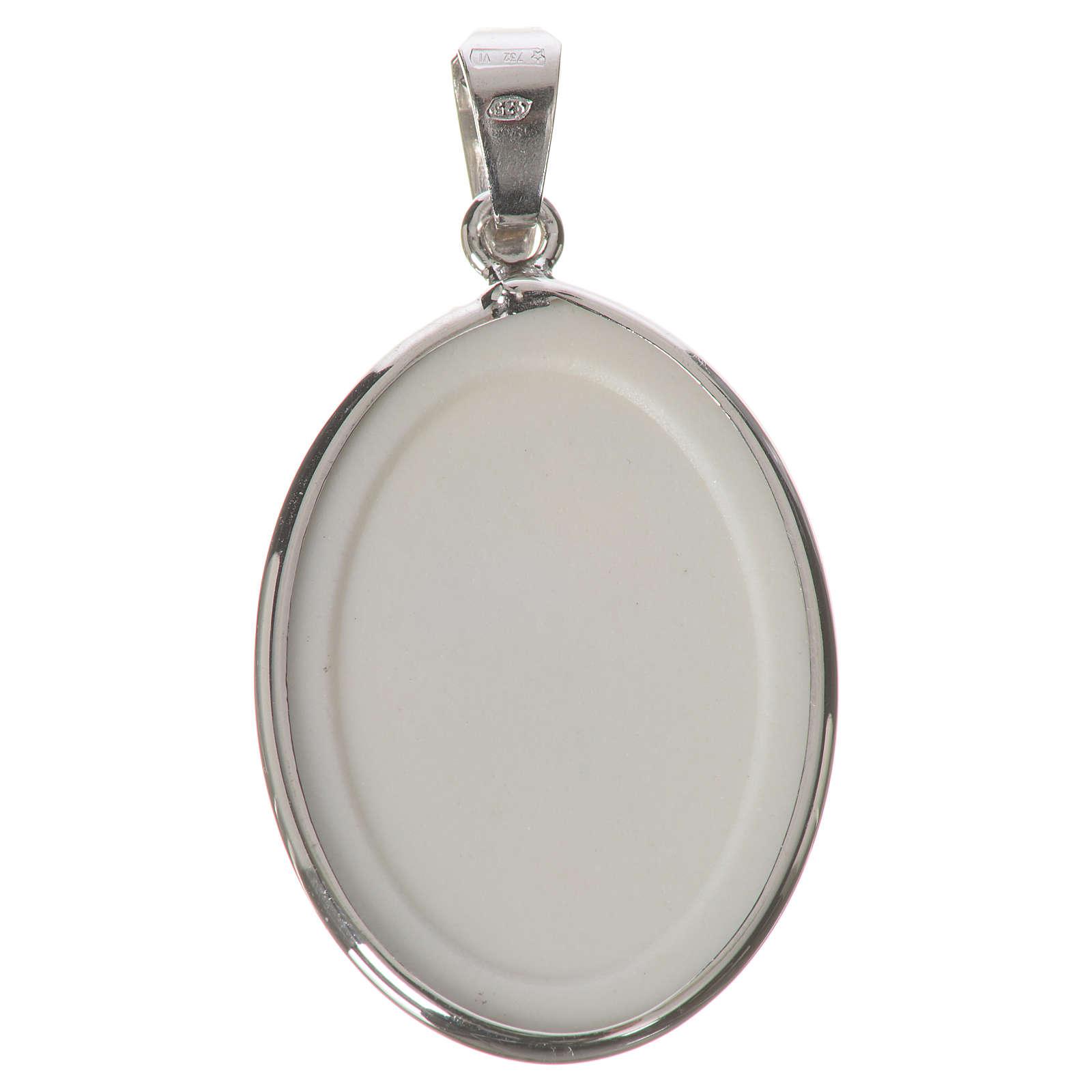 Medaglia ovale arg. 27 mm Madonna dei nodi 4