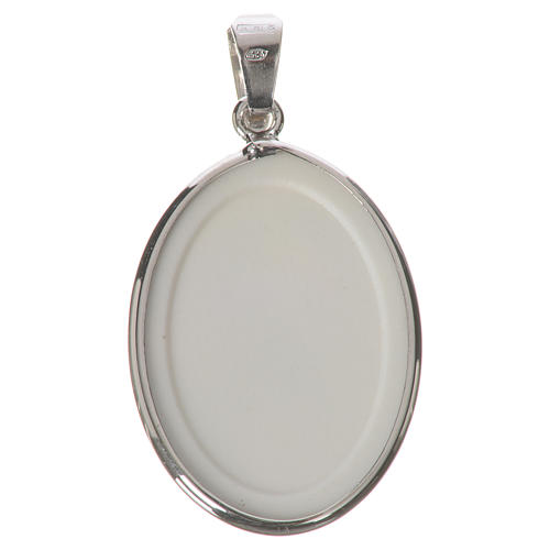 Medaglia ovale arg. 27 mm Madonna dei nodi 2