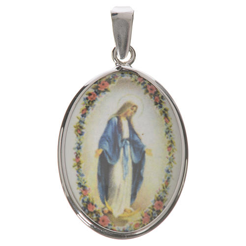 Oval medal in silver, 27mm Miraculous Medal 1