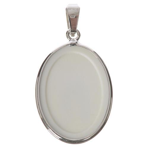Medalla ovalada de plata, 27mm Nuestra Señora Milagrosa 2