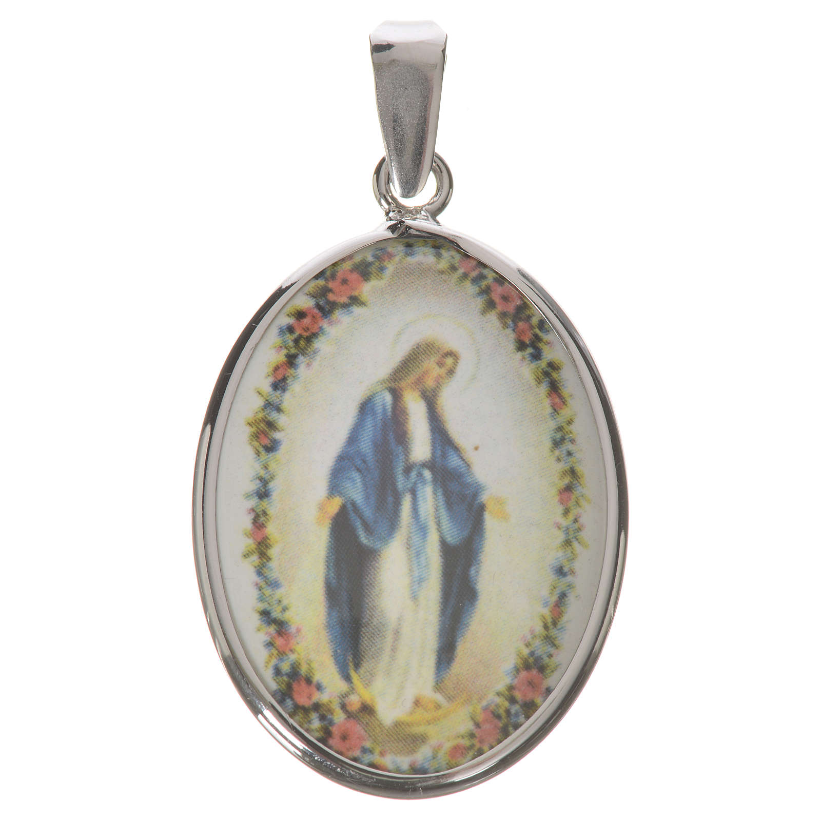 Oval medal in silver, 27mm Miraculous Medal 4