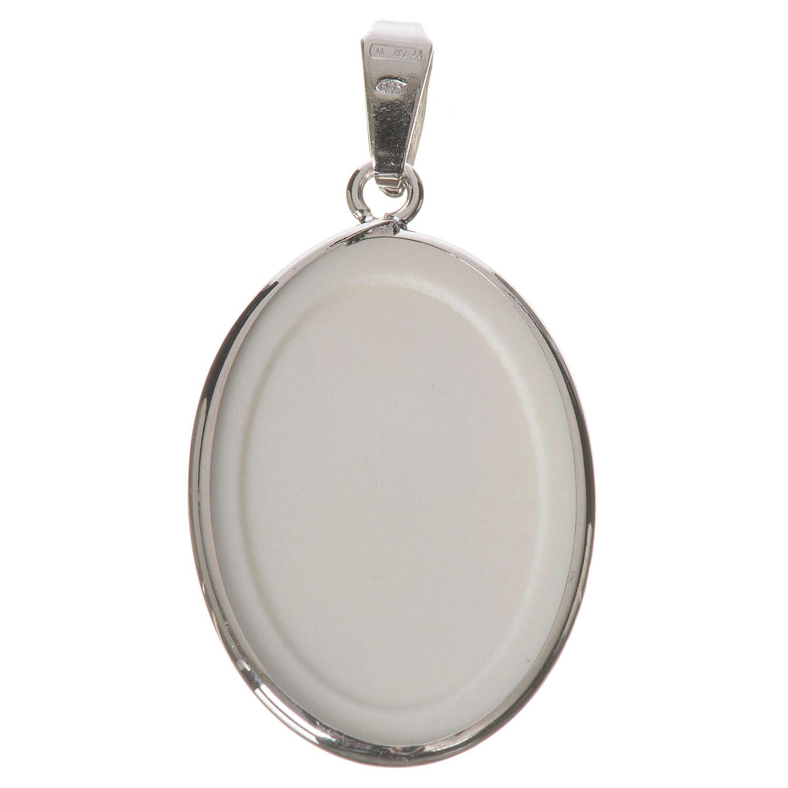 Medaglia ovale arg. 27 mm Lourdes 4