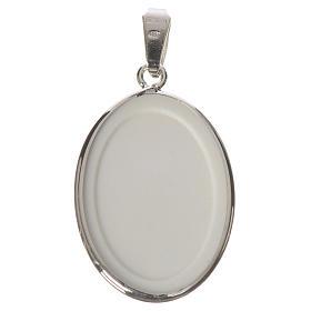 Medaglia ovale arg. 27 mm Lourdes s2