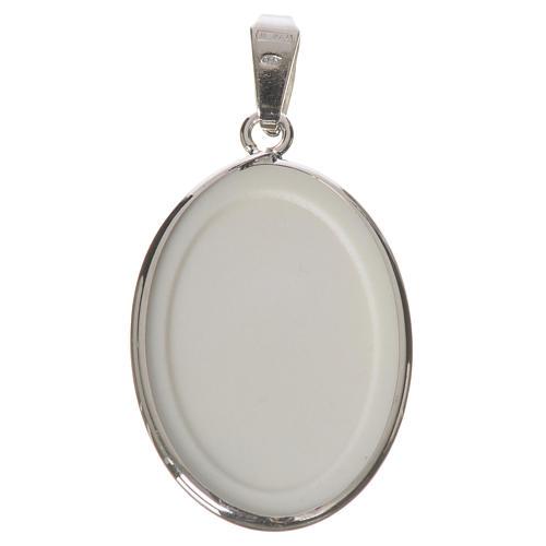 Medaglia ovale arg. 27 mm Lourdes 2