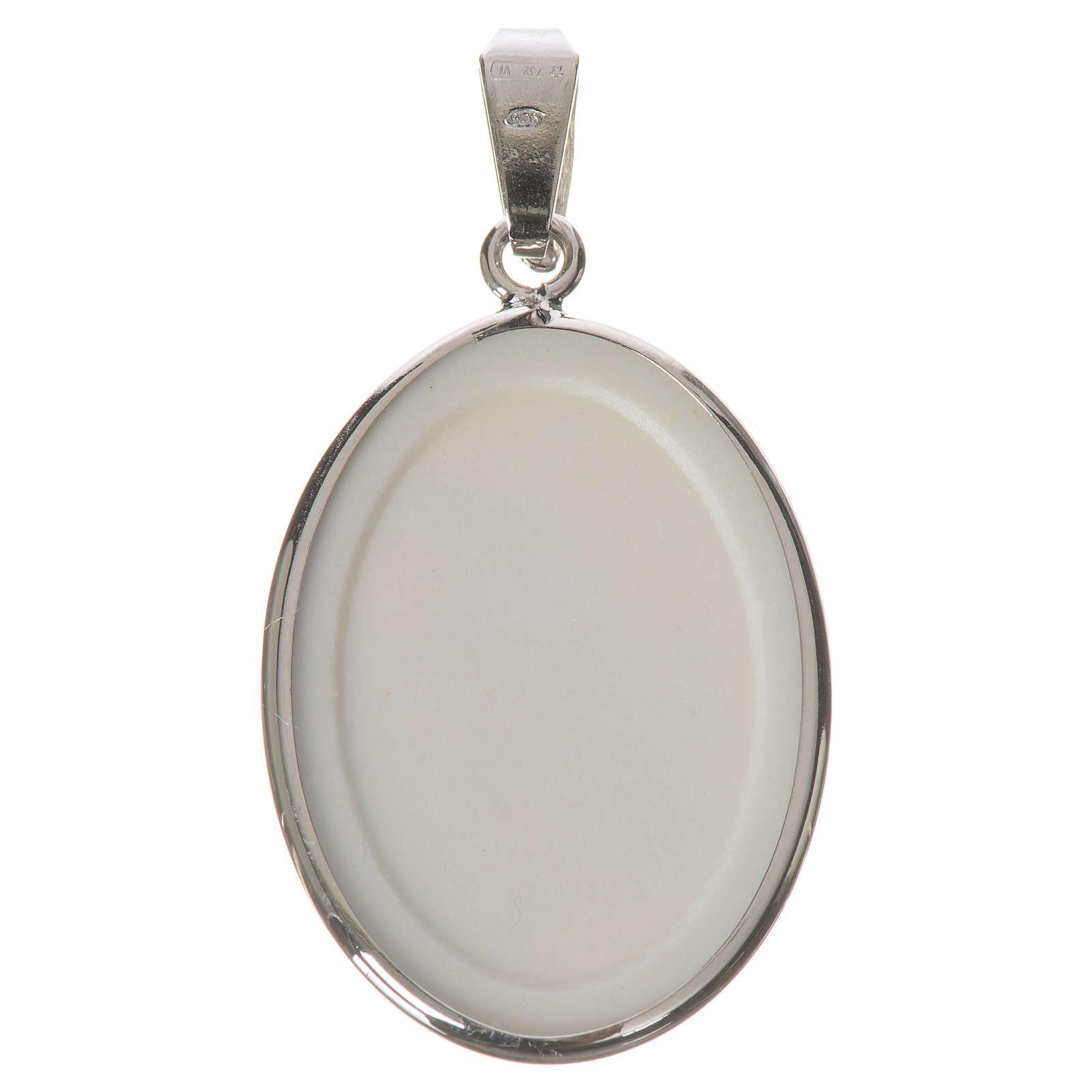 Medalla ovalada de plata, 27mm Medjugorje 4
