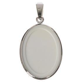 Medalla ovalada de plata, 27mm Medjugorje s2