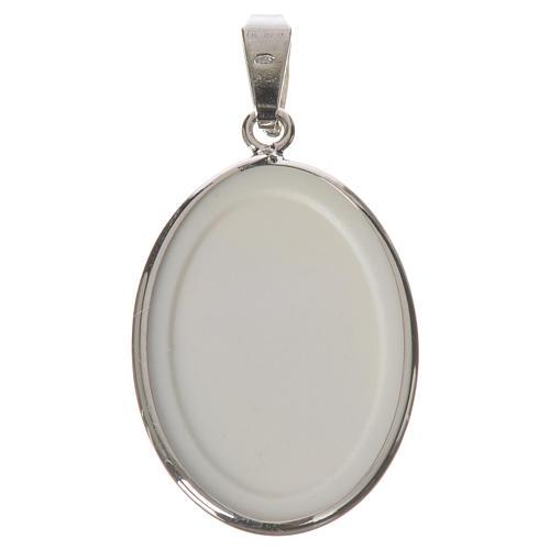 Medalla ovalada de plata, 27mm Medjugorje 2