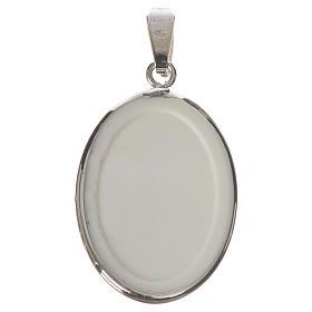 Medaglia ovale arg. 27 mm Gesù Bambino Praga s2