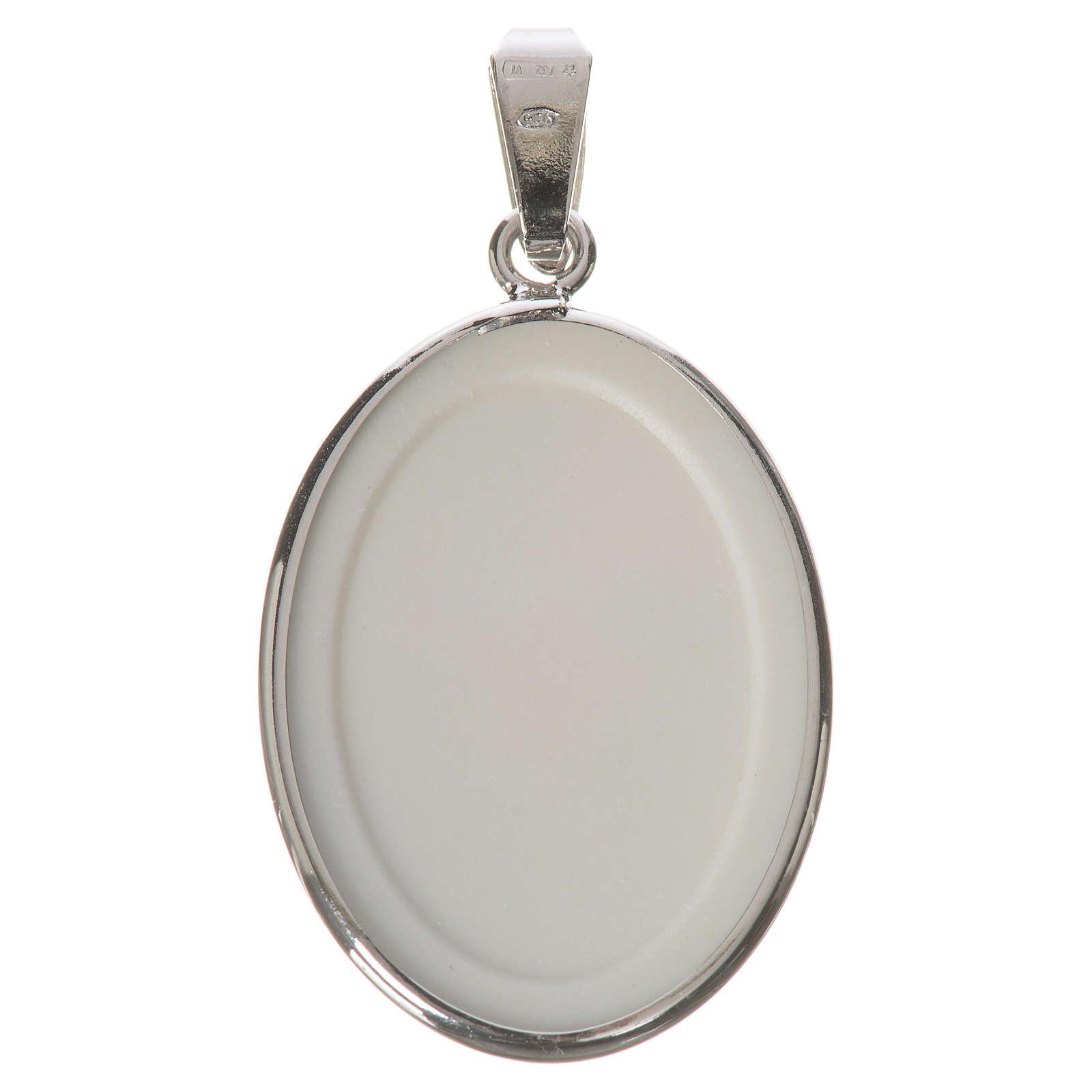 Medaglia ovale arg. 27 mm S. Pio 4