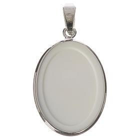 Medaglia ovale arg. 27 mm S. Pio s2