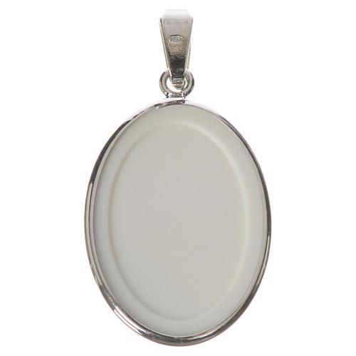 Medaglia ovale arg. 27 mm S. Pio 2