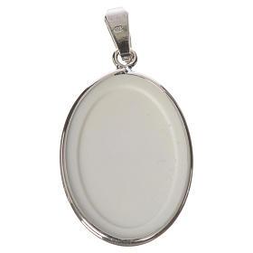 Medaglia ovale arg. 27 mm San Francesco s2
