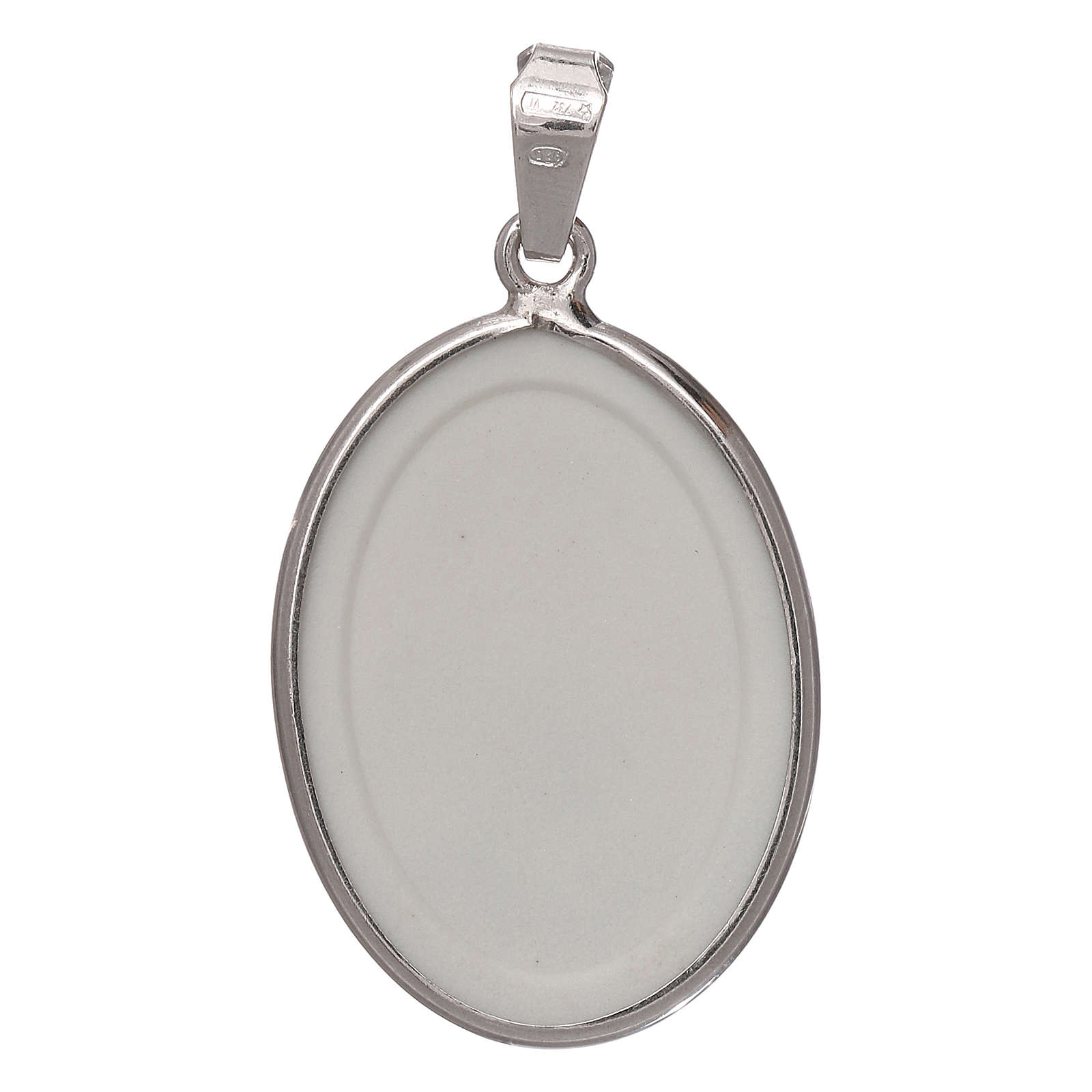 Oval medal in silver, 27mm Saint Anthony 4
