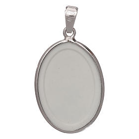 Oval medal in silver, 27mm Saint Anthony s2