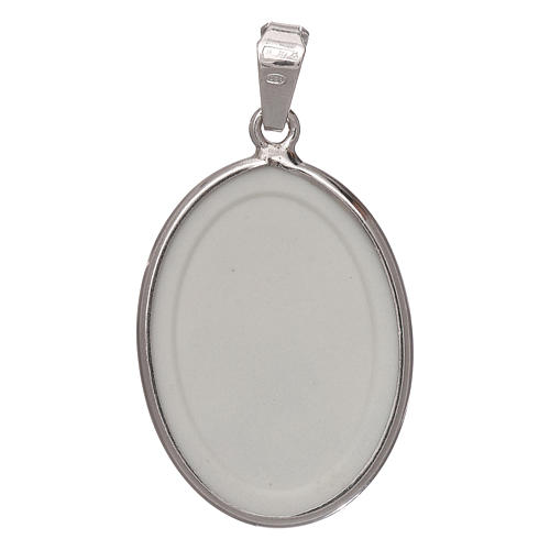 Oval medal in silver, 27mm Saint Anthony 2