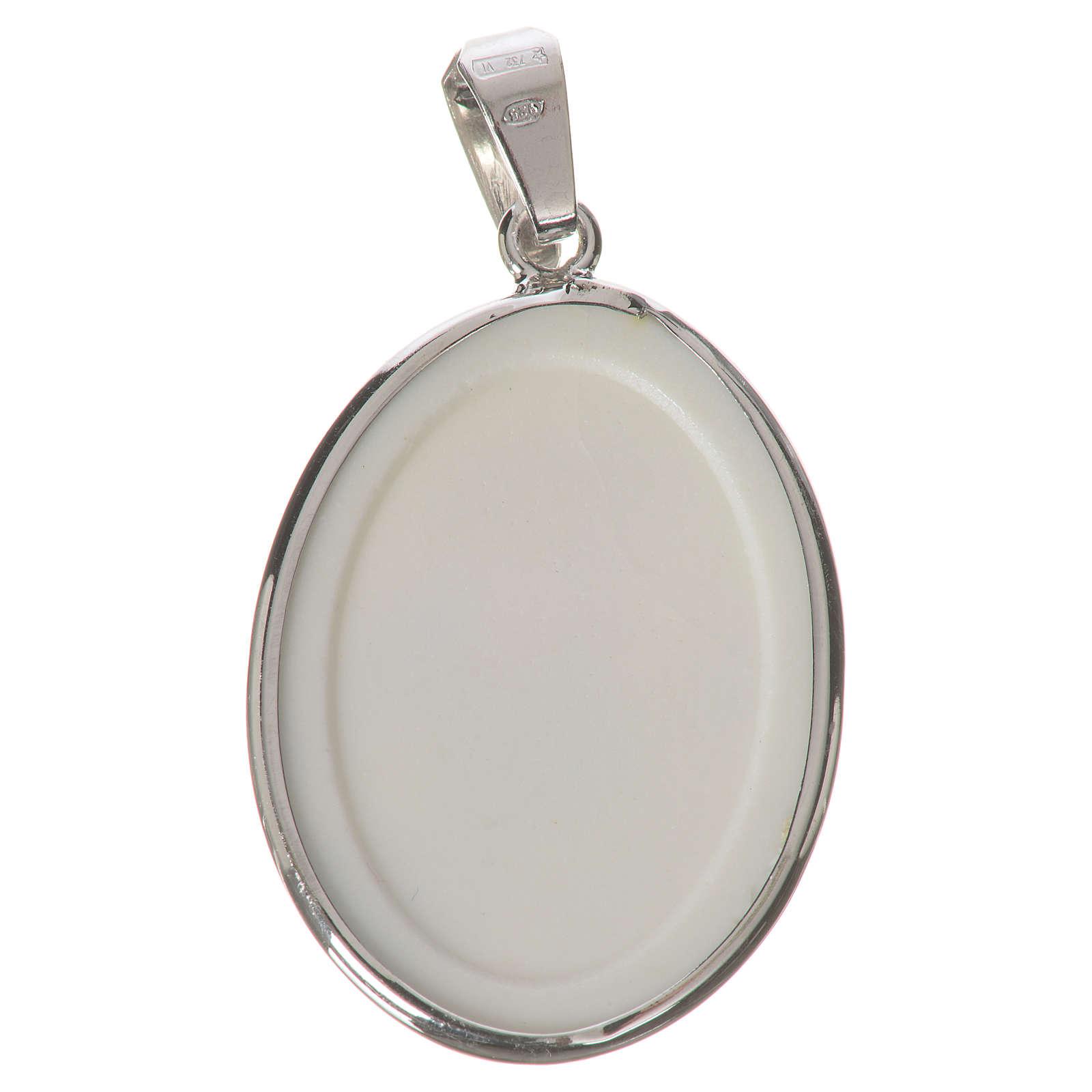 Medaglia ovale arg. 27 mm S. Antonio 4