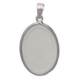 Medaglia ovale arg. 27 mm S. Antonio s2
