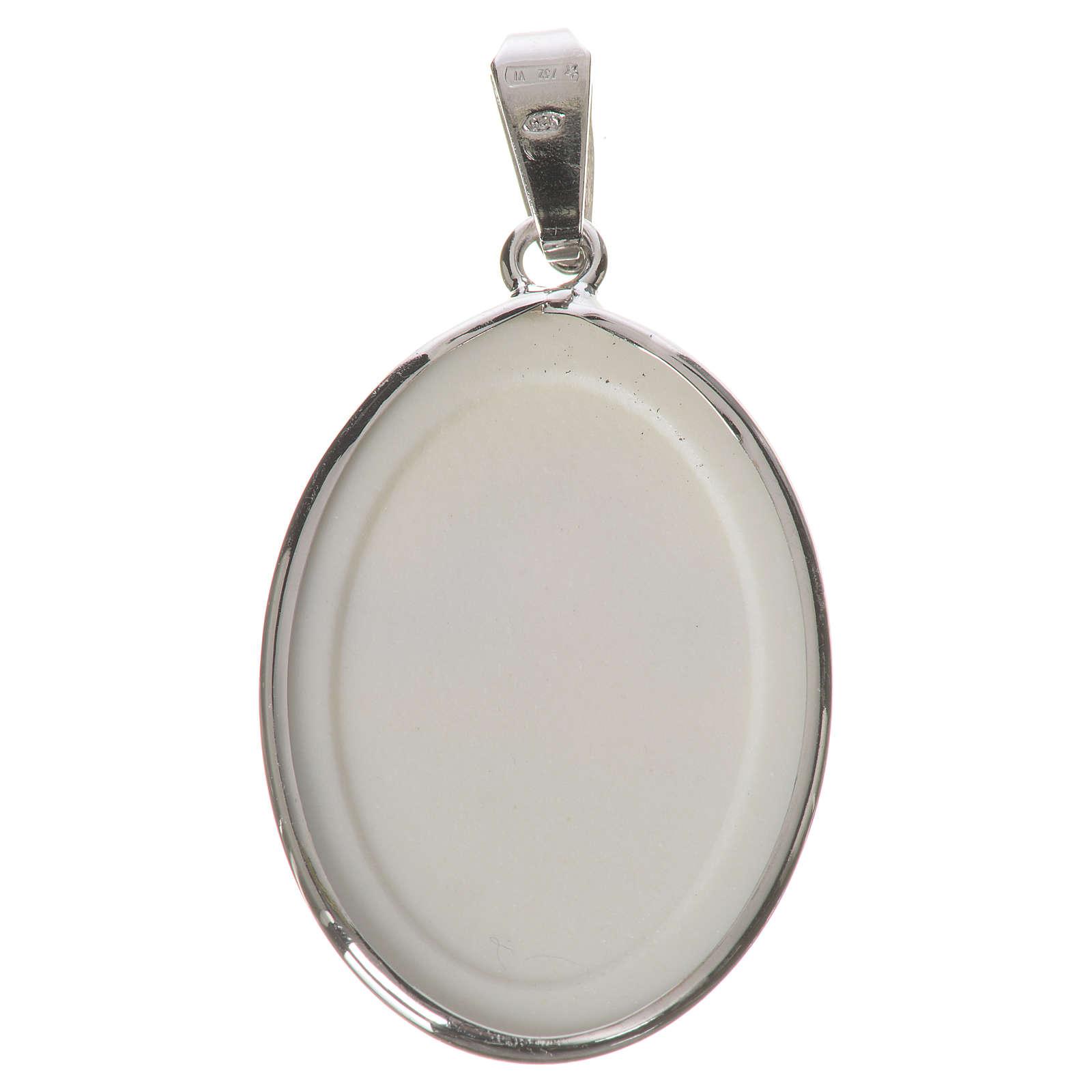 Medaglia ovale arg. 27 mm Angelo 4