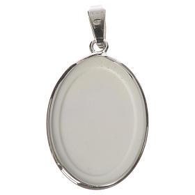 Medaglia ovale arg. 27 mm Angelo s2