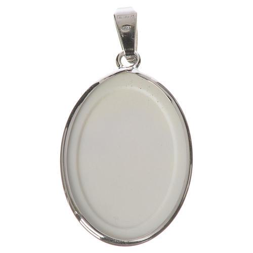 Medaglia ovale arg. 27 mm Angelo 2