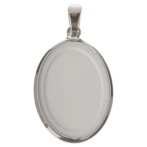 Medalla ovalada de plata, 27mm Jesús Misericordioso 2