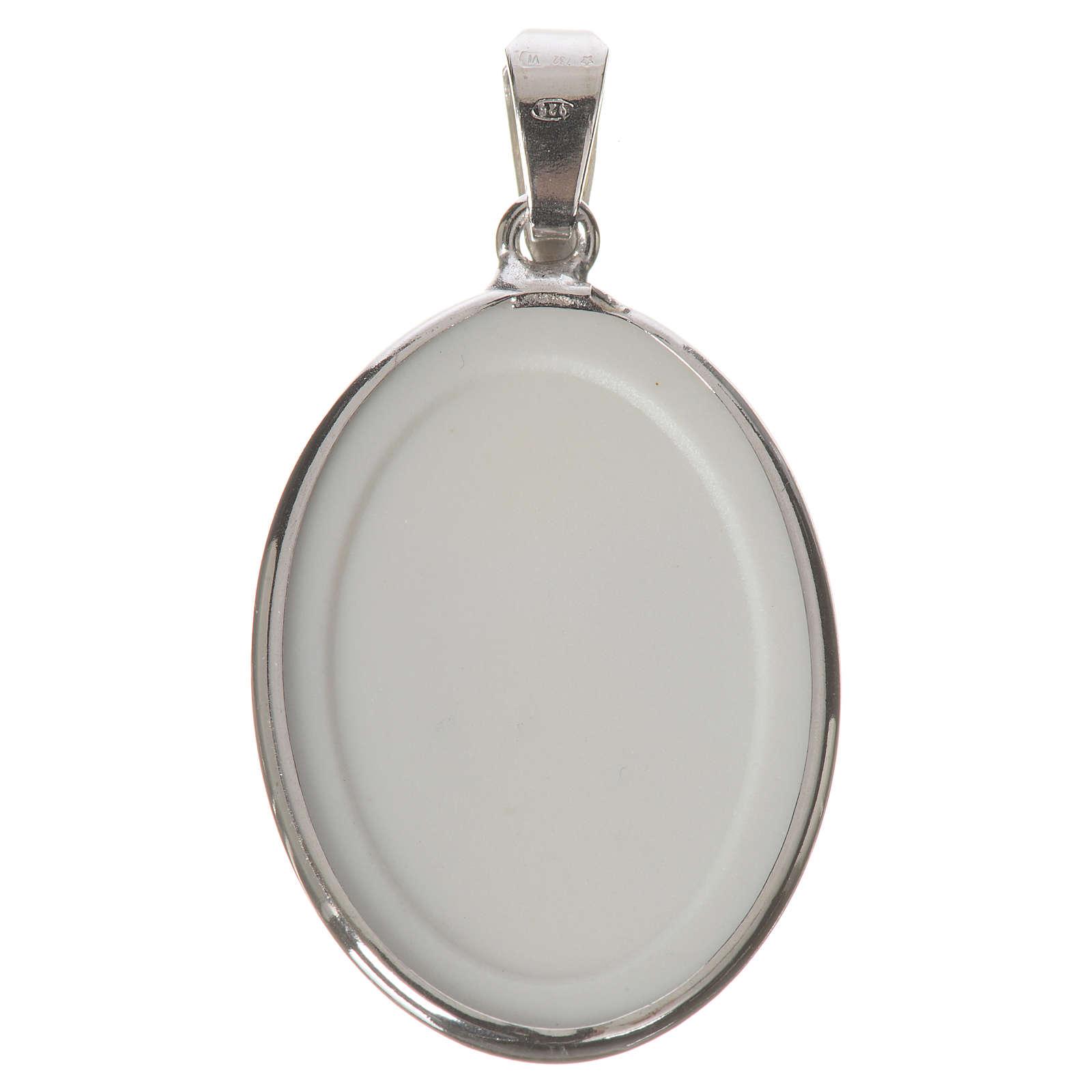 Médaille ovale argent 27mm Christ Miséricordieux 4