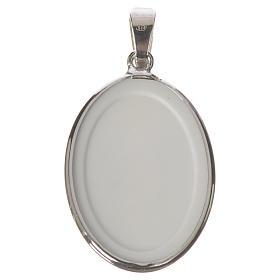 Medaglia ovale arg. 27 mm Gesù Misericordioso s2