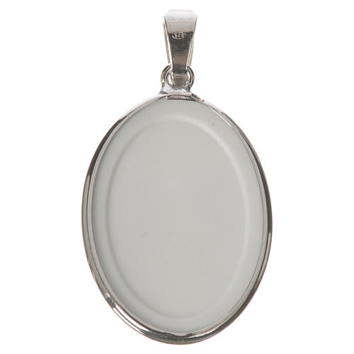Oval medal in silver, 27mm Merciful Jesus 2