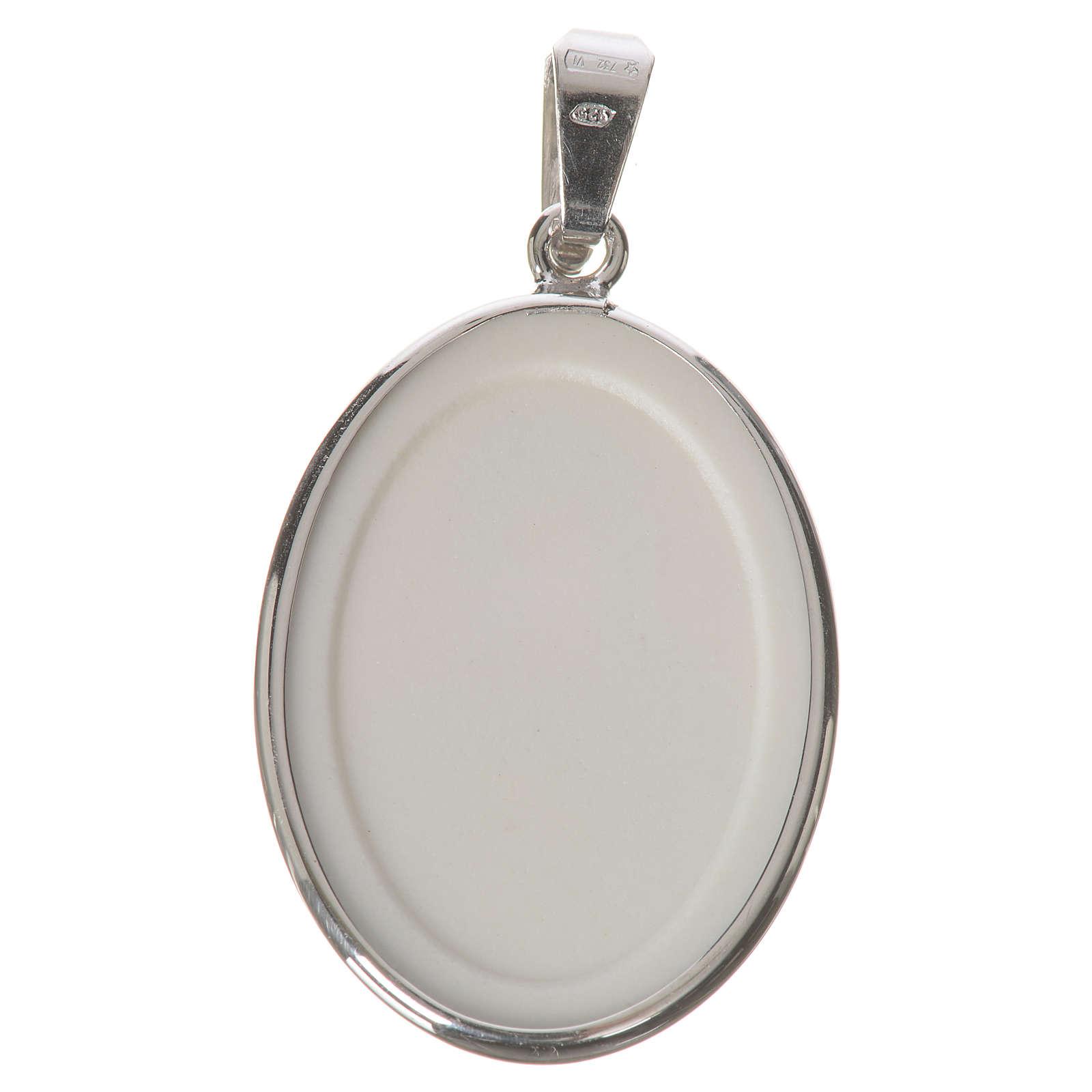 Medaglia ovale arg. 27 mm Madonna Perpetuo Soccorso 4