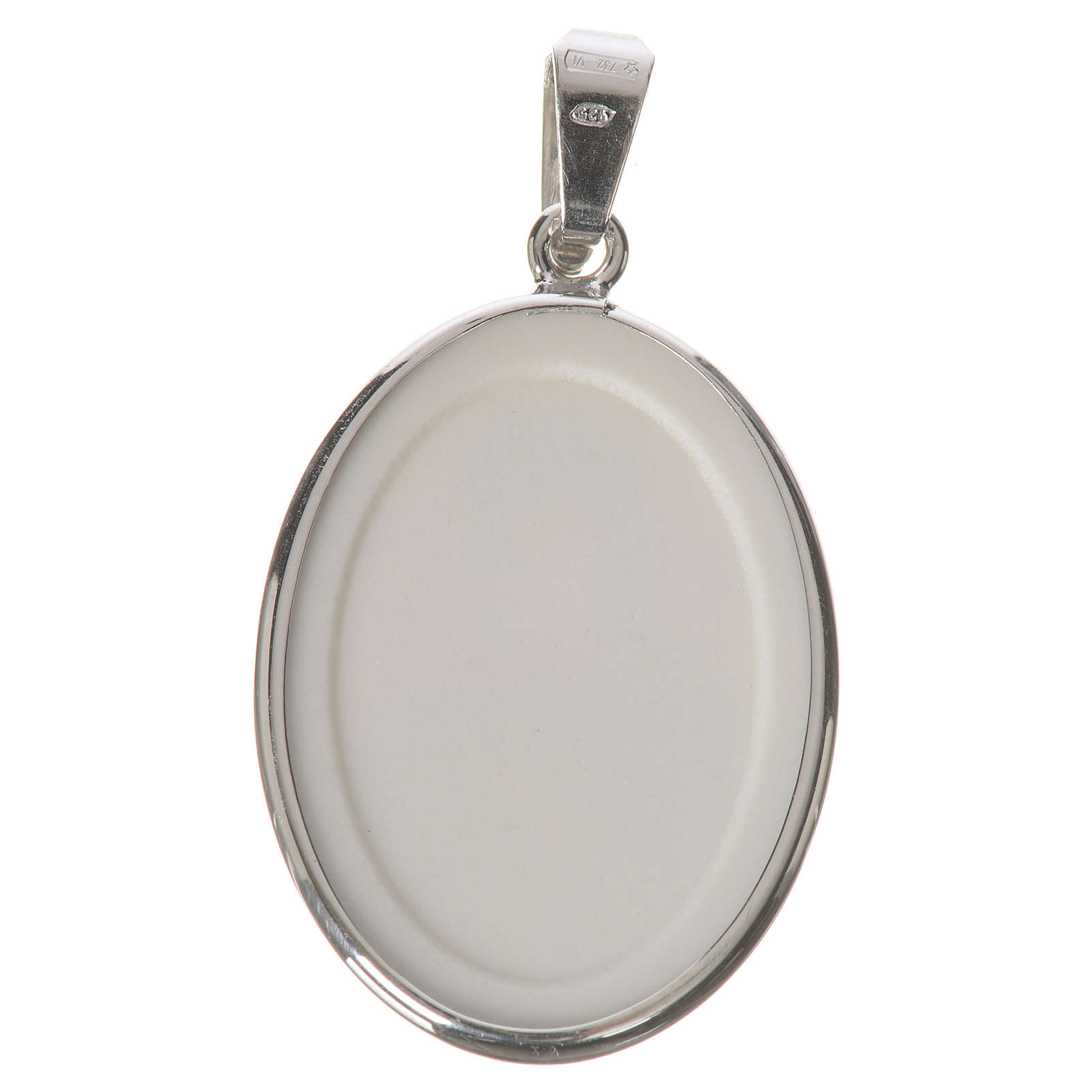 Oval medal in silver, 27mm Our Lady of Perpetual Help 4