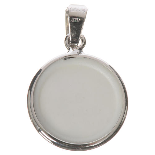 Round medal in silver, 18mm Saint Anthony 2