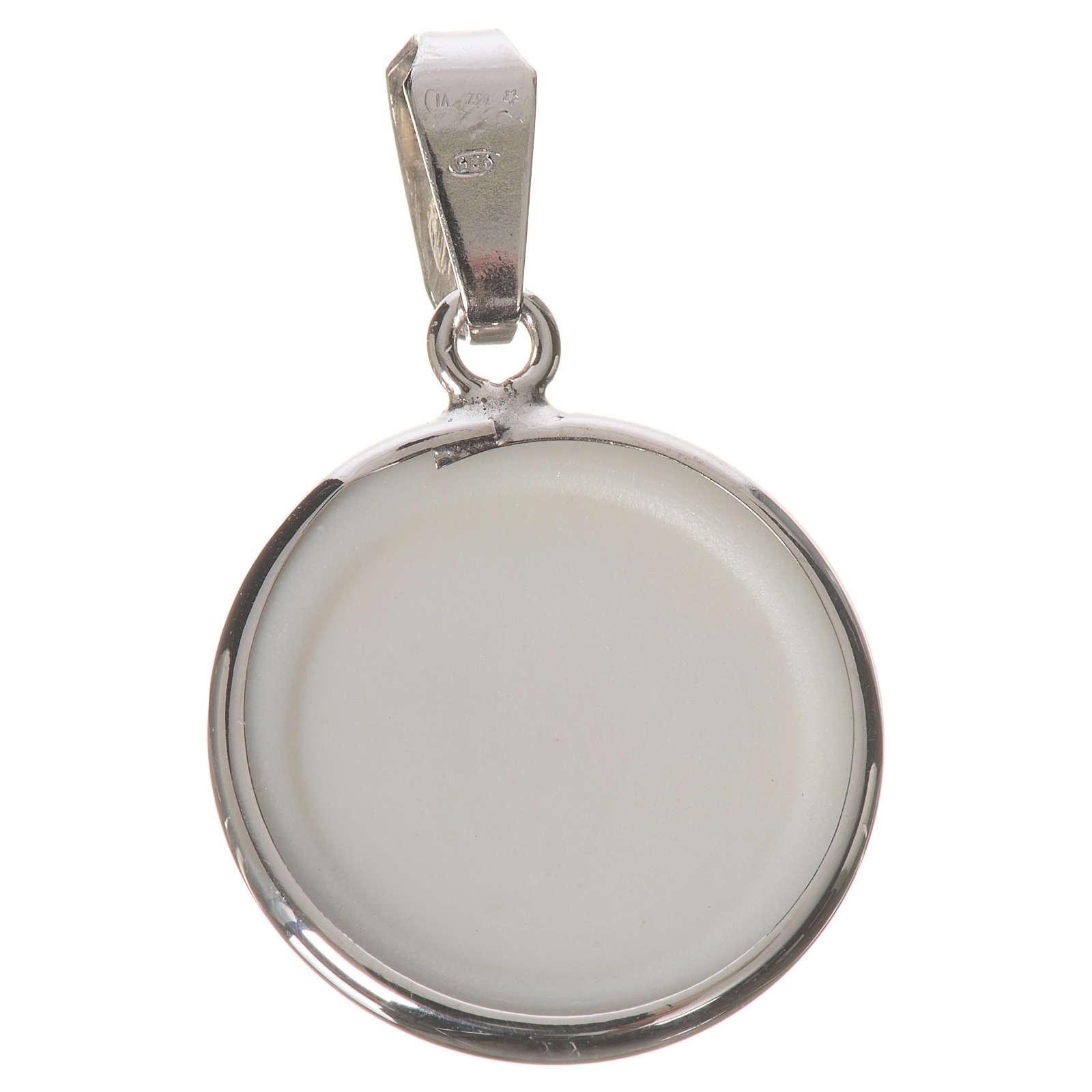 Medalla redonda de plata, 18mm Ángel 4