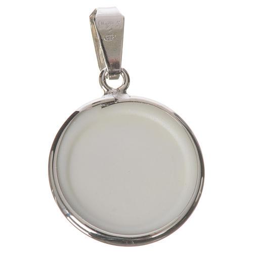 Medalla redonda de plata, 18mm Ángel 2
