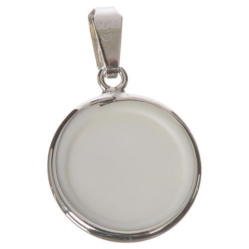 Round medal in silver, 18mm Angel 2