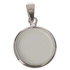 Médaille ronde argent 18mm Marie Enfant s2