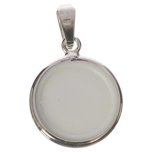 Médaille ronde argent 18mm Marie Enfant 2