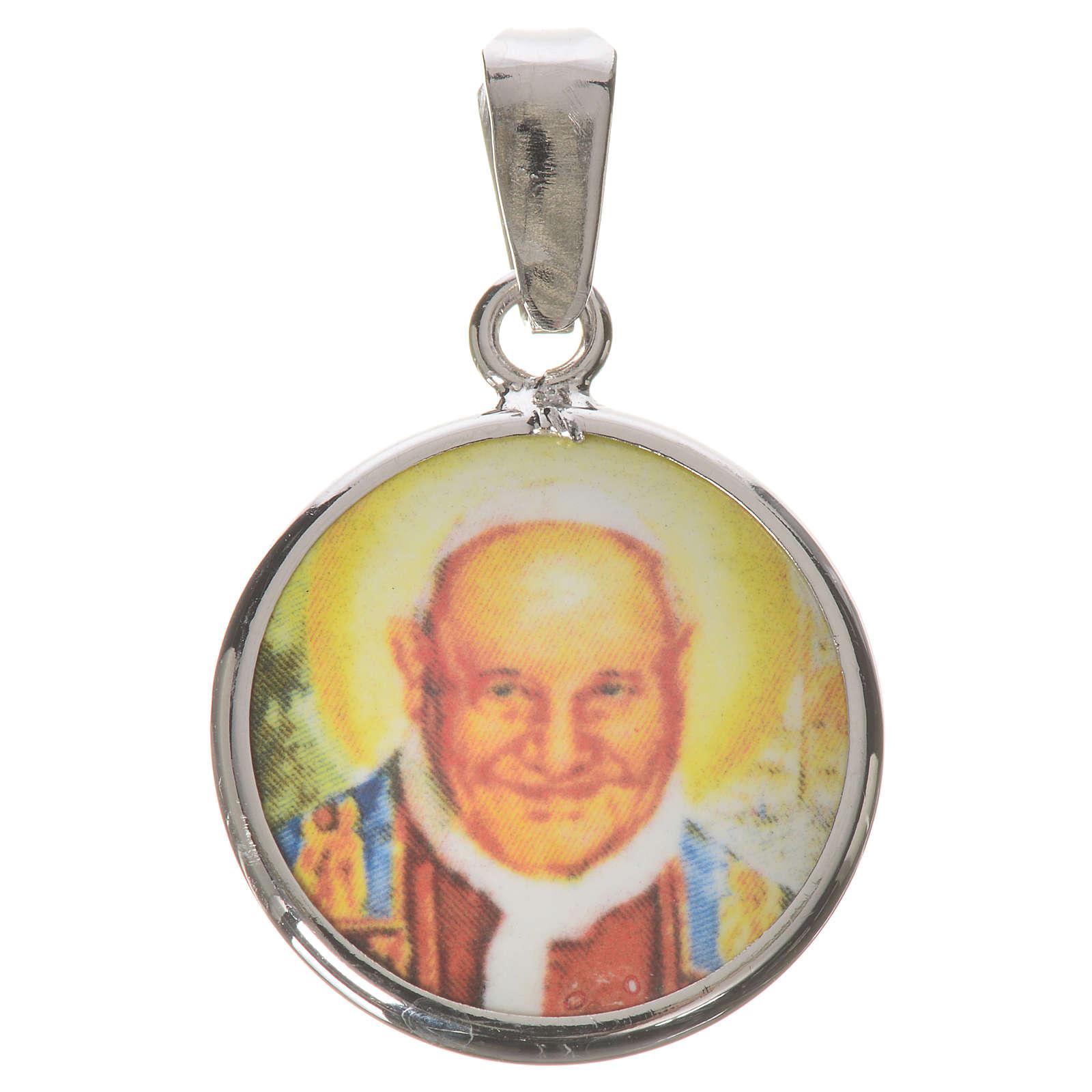 Medaglia tonda arg. 18 mm Giovanni XXIII 4