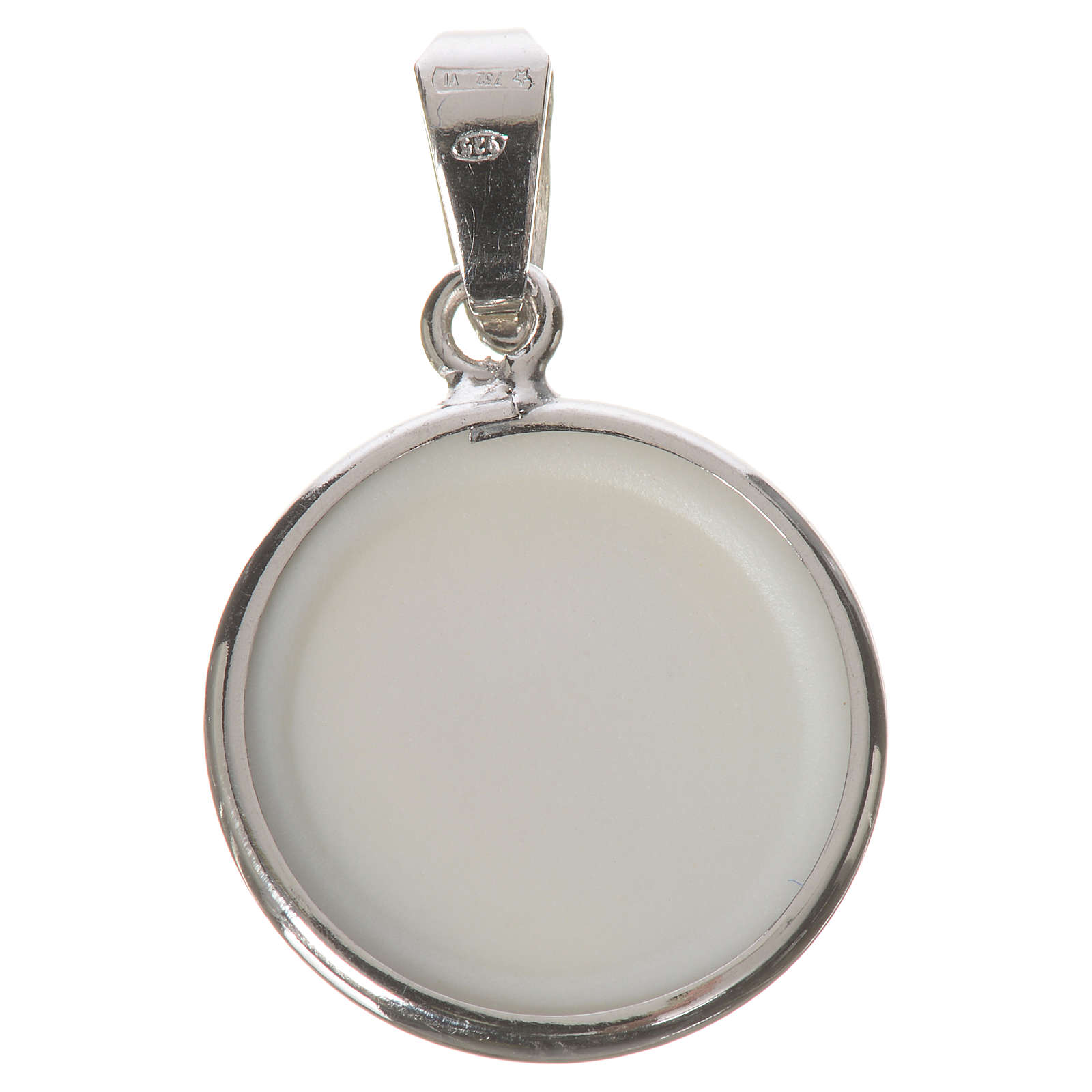 Médaille ronde argent 18mm Jean-Paul II 4
