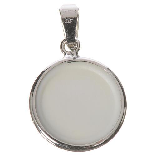 Médaille ronde argent 18mm Jean-Paul II 2