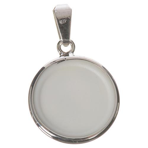Médaille ronde argent 18mm Marie qui défait les noeuds 2