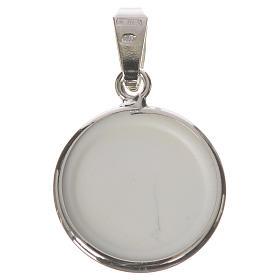 Medalla redonda de plata, 18mm Virgen de la Ternura s2