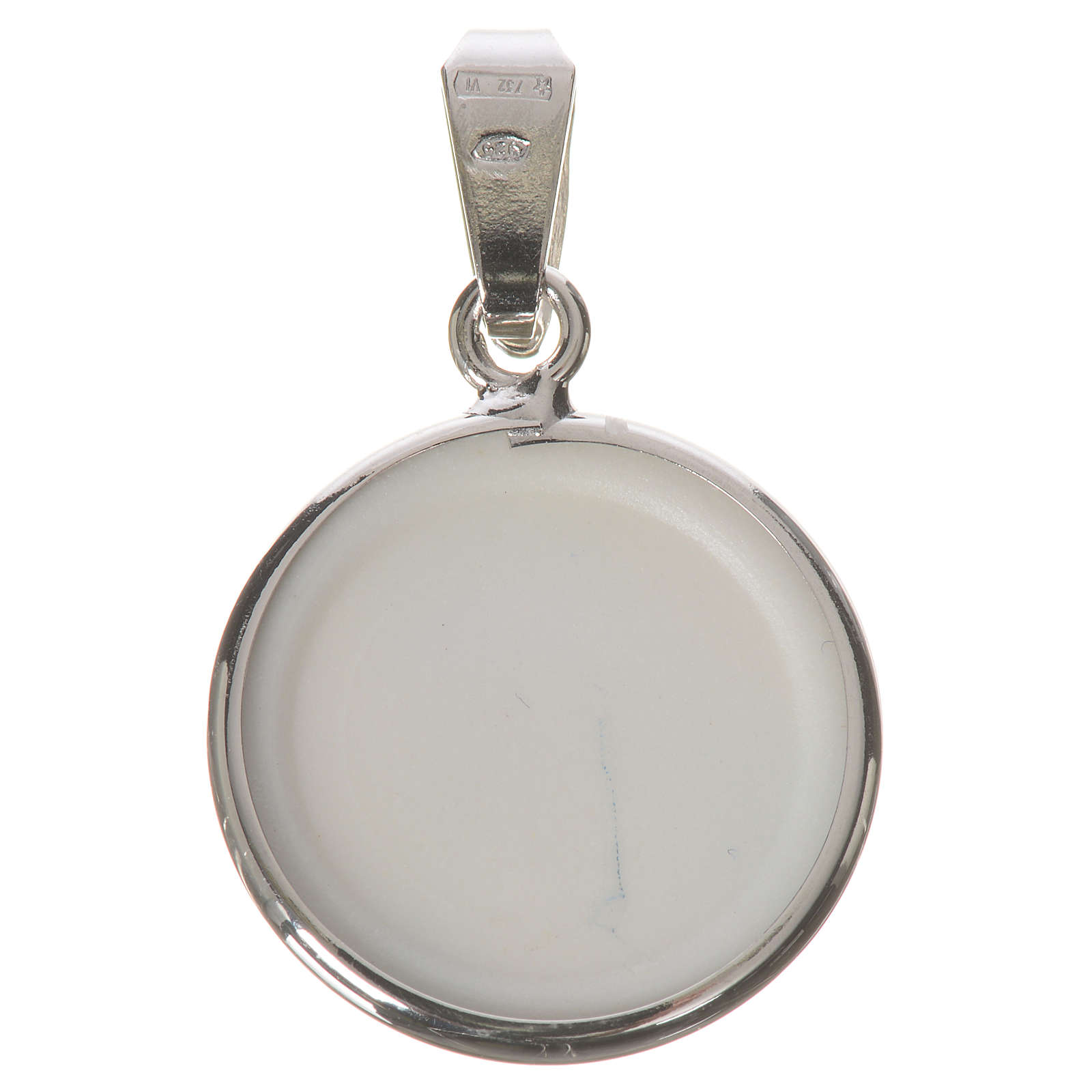 Médaille ronde argent 18mm Notre-Dame Tendresse 4