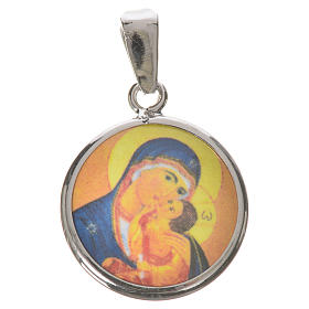 Médaille ronde argent 18mm Notre-Dame Tendresse s1