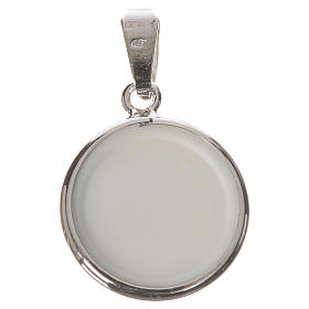 Round medal in silver, 18mm Medjugorje s2