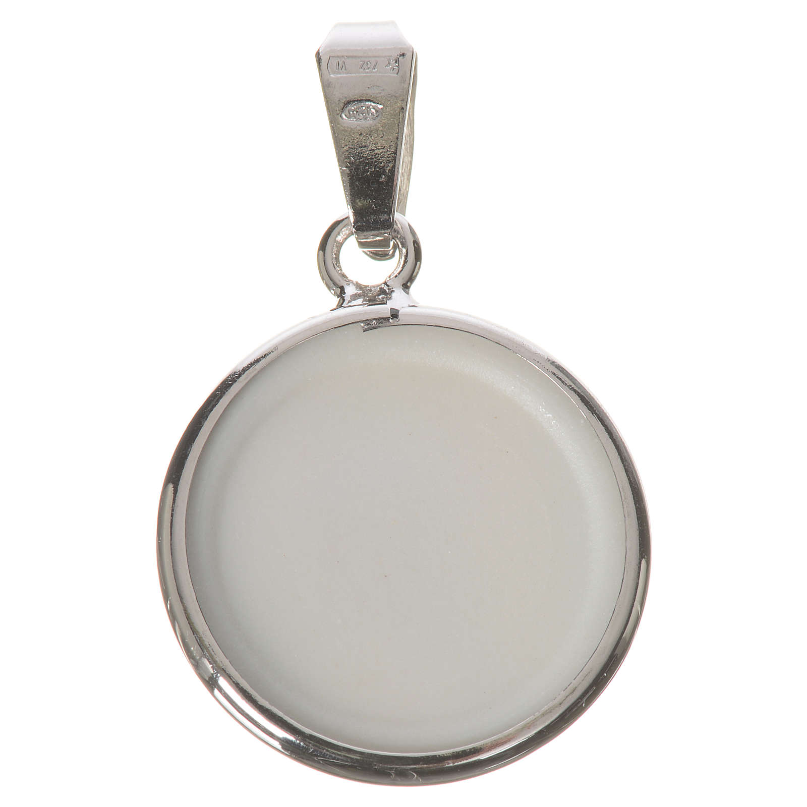 Medalla redonda de plata, 18mm Medjugorje 4